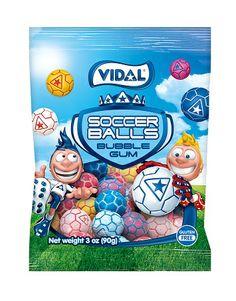 Vidal Soccer Balls Bubble Gum