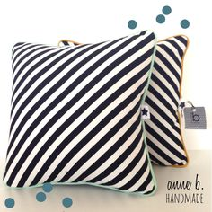 Housse de coussin tissus noir et blanc motifs losanges - Coussin rembourrage 50x50 ...