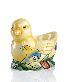 """Fitz and Floyd """"Ricamo"""" egg cup"""
