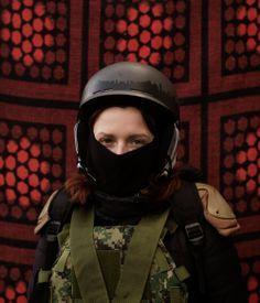 Kiev protester by Davide Monteleone