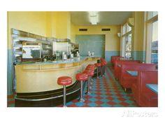 Interior, Retro Diner Art Print