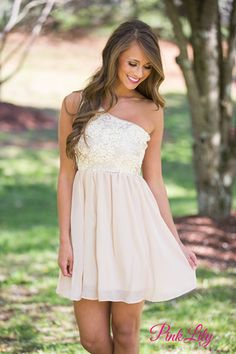 An Elegant Affair Dress Champagne