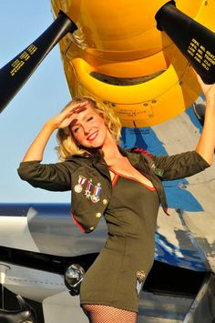 Warbird Pinup Girls Heres Kelly that day as warm as the sunlight itself, we have great girls. Watch for Kelly in our upcoming 2014 release in June appearing with Jim Tobul's exquisite F-4u Corsair
