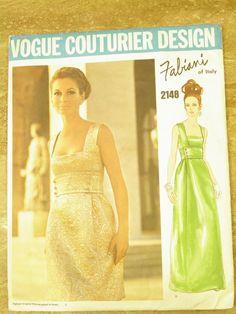 Vintage Vogue Fabiani Couturier dress 2148, size 10, 32 1/2, uncut