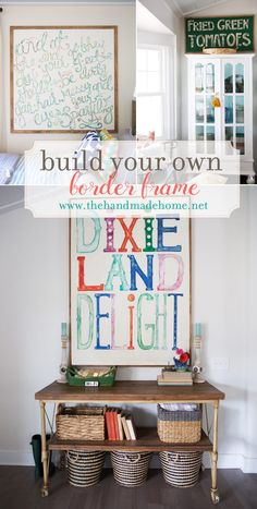 build a simple border frame for the art in your home - and a lot more