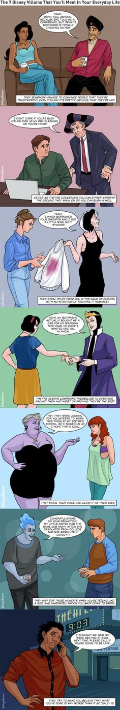 The 7 Disney Villains That You'll Meet In Your Everyday Life