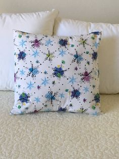 Snowflakes Pillow Cover  Christmas Pillow  by KathyRyanDesigns