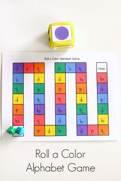 Cut out circles write the abcs on them and play 5 different color theme alphabet game for preschool letter learning board game spiritdancerdesigns Choice Image
