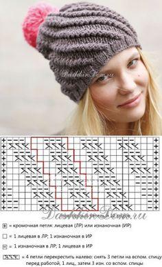 Crochet Stitches Free, Cable Knitting, Knitting Charts, Baby Knitting Patterns, Knitting Stitches, Crochet Patterns, Crochet Winter, Love Crochet, Knit Crochet