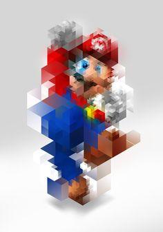 Super Mario by Nicola Felaco, via Behance