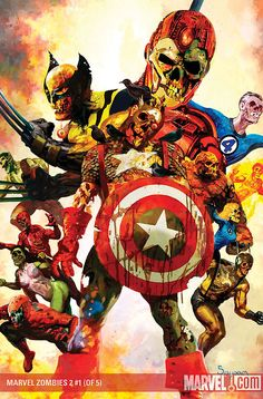 "Super heroes as zombies. The series ""Marvel Zombies"" by Arthur Suydam. Comic Book Characters, Marvel Characters, Comic Character, Comic Books Art, Comic Art, Marvel Villains, Hulk Comic, Marvel Dc, Marvel Comics Art"