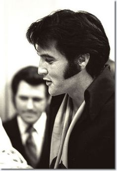 'Elvis at the reception after the press conference