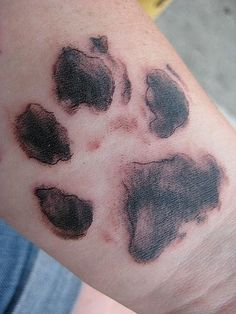 I want to do this with one of my dog's paw prints, but on the top of my foot.