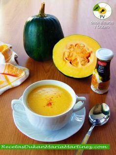 Maria Martinez Dukan: Crema de Calabaza y curry (Crucero PV) Blood Type Diet, Dukan Diet, How To Slim Down, Thai Recipes, Cantaloupe, Recipies, Menu, Vegan, Fruit