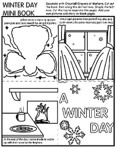 Winter Day Mini Book Coloring Page The Crayola Site Has TONS Of Free Printable Pages And Activities
