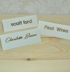 Elegant Laser Cut Place Cards