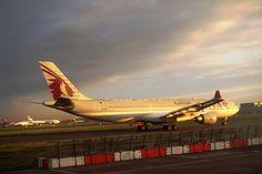 Qatar Airways at London Heathrow Airport