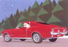 Have a Merry Mustang Christmas! Mustang Fastback, Ford Mustang 1964, Christmas Car, Xmas, Carros Hot Rod, Mustang Parts, Ad Art, Car Parts, My Little Pony