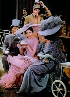 Julie Andrews and Rex Harrison. In My Fair Lady, stage show