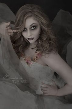 Ghost Bride Halloween Costume Portrait photography by Simpson Portraits Los Angeles