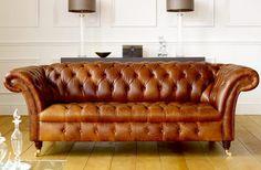 Barrington Vintage Leather Sofa - Chesterfield Sköna hem