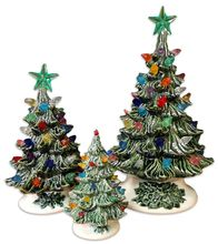 Ceramic Christmas Trees from the Amish Acres General Store! Also at the Vermont Country Store and Texas Hill Country Ceramics.