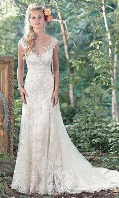 d7dbaa600a9d Esteemed romantic wedding dress visit their website Vintage Lace Weddings,  Vintage Dresses, Deer Pearl