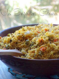 """Rouz jerbi {Riz djerbien a la vapeur} de Samar du blog """"Mes inspirations culinaires"""" inspiré du blog """"La Tunisienne"""""""