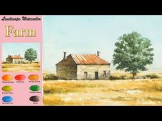 YouTube Watercolor Landscape, Watercolor Paintings, Watercolour Tutorials, Art Tutorials, Painting & Drawing, Arches, Drawings, Artist, Birds