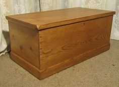 Antique Victorian Pine Blanket Box or Coffee Table