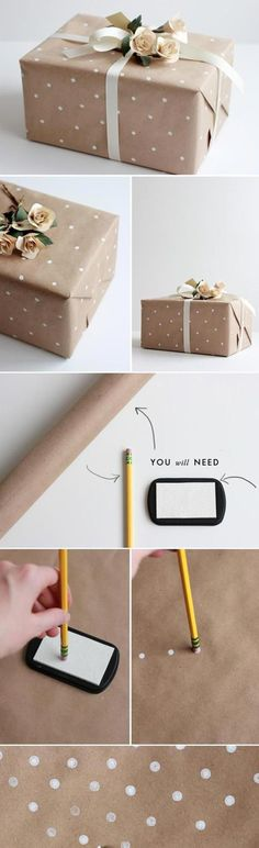 New diy christmas wrapping ideas creative brown paper Ideas Present Wrapping, Creative Gift Wrapping, Creative Gifts, Wrapping Papers, Kraft Wrapping Paper, Wrapping Paper Ideas, Creative Ideas, Christmas Gift Wrapping, Diy Christmas Gifts