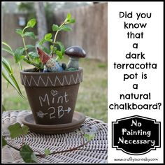 Did you know that Terracotta is a natural Chalkboard?