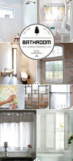 Light and Privacy: Ideas for Bathroom Window Treatments || How do you bring in natural light but keep privacy in the bathroom? Check out these window treatment ideas.