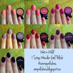 Polishes: wet n wild 1 Step Wonder Gel Polish Swatches - Part 2 Posh Nails, Fancy Nails, Pretty Nails, Nail Color Combos, Nail Colors, Wet N Wild Cosmetics, Classy Makeup, Gel Nails At Home, Classic Nails