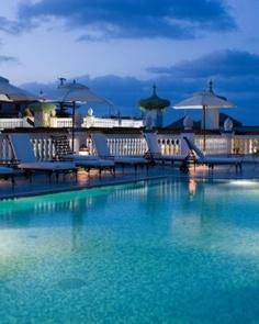 Terme Manzi Hotel & Spa  ( Ischia Island, Italy )  The ornately tiled rooftop pool overlooks the rolling Ischian landscape. #Jetsetter #JSSunrise