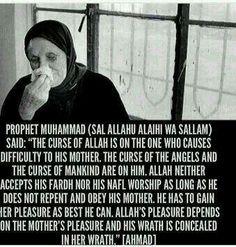 Prophet Muhammad on serving Mothers