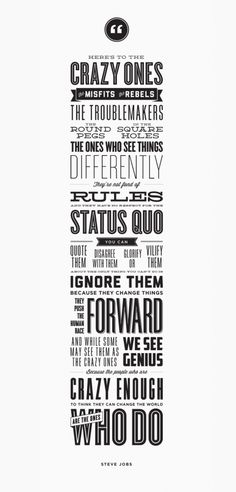 steve jobs - challenge the status quo