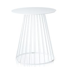 Element White Tower Side Table