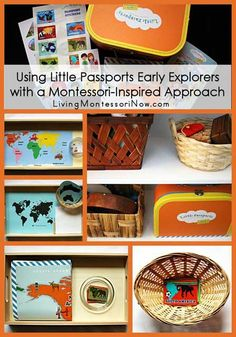 Activities and ideas for using the new Little Passports Early Explorers subscription with a Montessori-inspired approach for both preschoolers and toddlers