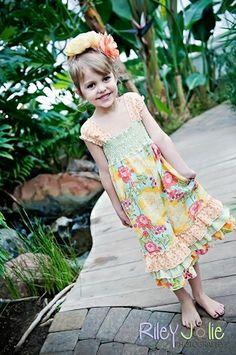 Lily's Girls Boutique Apron Romper PDF Pattern