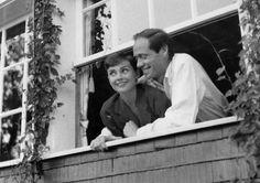 """timelessaudrey: """"Audrey and Mel,c.1955 """""""