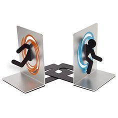 Portal Bookends to keep books or video games stand $29.99 - MyWonderList.blogspot.com