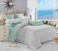 3pc Duvet Cover Bedding Set (Twin Size), 1 Duvet Cover + 2 Pillow Shams, Reversible, Soft Microfiber