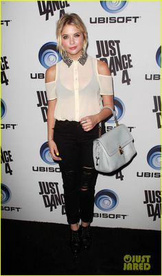 Ashley Benson at the Just Dance 4 Launch Party
