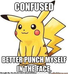 Ugh... that always happens to my poke'mon, especially when I run into those wild Zubats! :P  pokemon meme | Tumblr