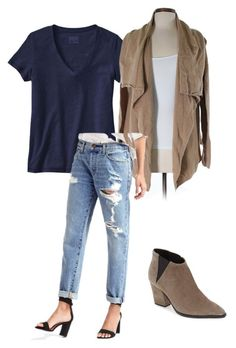 """Outfit 16"" by katie1309 on Polyvore featuring Patagonia, LOFT, Gap and Marc Fisher LTD"