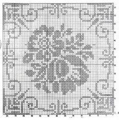 flower filet crochet patterns – Knitting Tips Crochet Dollies, Crochet Quilt, Crochet Cross, Crochet Tablecloth, Crochet Squares, Crochet Motif, Crochet Flowers, Filet Crochet Charts, Crochet Stitches Patterns