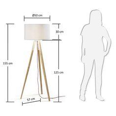 Pictures for the wood floor lamp - Beleuchtung Diy Floor Lamp, Wooden Floor Lamps, Wooden Lamp, Wood Floor, Diy Lampe, Retro Lamp, I Love Lamp, Standard Lamps, Tripod Lamp