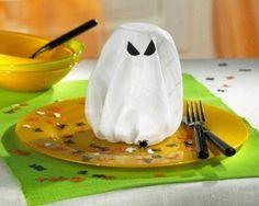 Ghost napkin fold - super easy! (Use Google Translate)