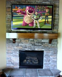 1000 images about TV above Fireplace on Pinterest
